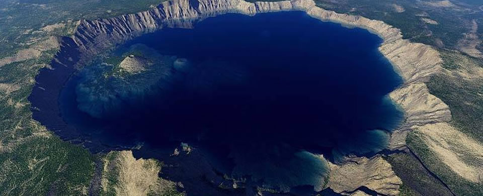 Crater Lake Arial